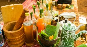 jamu or traditional healthy drink made from spice in bottle from